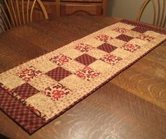 Quilted table runner quilted runner table by WarmandCozyQuilts