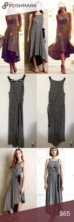 Anthropologie Salsola dress by Maeve In excellent condition! Size xs. This dress does have stretch! Polyester, rayon, spandex knit; rayon lining. Soft fit-and-flare silhouette. High-low hem. Tie waist. Pullover styling. Machine wash. Imported🙆🏻no trades or off site transactions. 🙅🏻Low ball offers will be denied. 💁🏻I believe my prices are already low enough and are very fair, I also offer a bundle discount so I do not accept BUNDLE OFFERS. 🙋🏻Thank you for shopping my closet. 💋…