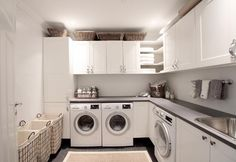 via bma. Home Appliances, Stacked Washer Dryer, Washing Machine, Interior, Interior Inspiration, Home, Kitchen, Laundry, Laundry Room
