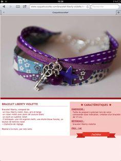 Bracelet liberty Denim Bracelet, Silk Wrap Bracelets, Fabric Bracelets, Fabric Jewelry, Jewelry Art, Beaded Jewelry, Jewelry Bracelets, Handmade Jewelry, Jewellery
