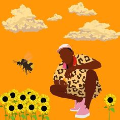 Tyler, The Creator - Flower Boy Art Print by Granttron - X-Small X 23, Canvas Art, Canvas Prints, Art Prints, Canvas Paintings, Tyler The Creator Wallpaper, Dorm Posters, Plant Drawing, Drawing Flowers