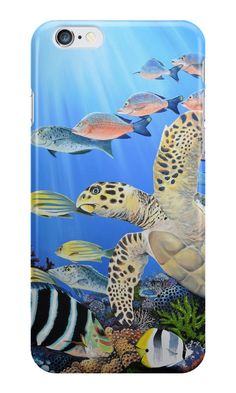 The flight of the turtle by ArtsOceans #art #ocean #painting #sale