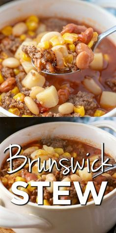 Easy Soup Recipes, Easy Chicken Recipes, Casserole Recipes, Cooking Recipes, Healthy Recipes, Recipes Dinner, Ground Beef Stews, Soup With Ground Beef, Best Brunswick Stew Recipe
