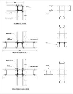 Mundo Seco - Curso: Steel Frame - Casas de Acero Steel Frame House, Steel House, Sistema Drywall, Steel Framing, Steel Deck, Steel Frame Construction, Steel Detail, Roof Trusses, Metal Buildings