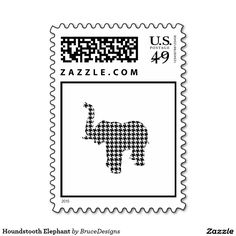 Houndstooth Elephant Stamps