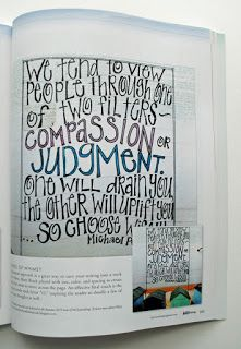 Had an art journal page featured in Art Journaling Magazine April 2016!