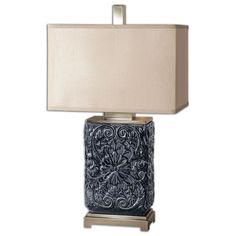 Uttermost Pratola Charcoal Blue Lamp 26161-1