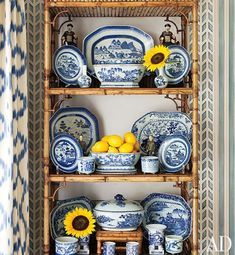 Blue and white Chinese porcelain in the home of Brazilian architect Jorge Elias | Photo: Roger Davies | Architectural Digest