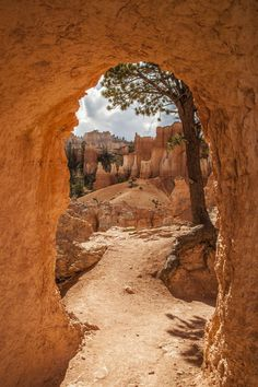 Hiking on Peek-A-Boo Loop Trail at Bryce Canyon National Park. I walked through this door, one of the best doors I ever walked through!