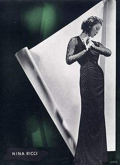 Nina Ricci 1936 Evening Gown, Fashion Photography Joffé