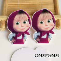 50pcs/lot 26MM*39MM New Cartoon Character Resin Flatback Planar DIY Craft Resins For Home Decoration Accessories FR028