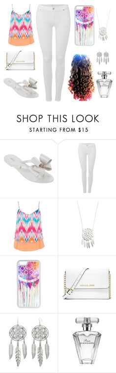 """Dream Catcher"" by a-hidden-secret ❤ liked on Polyvore featuring Melissa, 7 For All Mankind, maurices, CellPowerCases, Cullen, MICHAEL Michael Kors, Arizona and Avon"