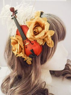 Last Melody Golden Violin Hair Accessory reminds me of emilie autumn
