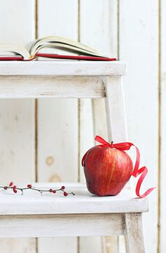 **Red and White Ana Rosa Apple Farm, Apple Orchard, White Cottage, Pinterest Photos, Colour Board, Red Apple, Apple Tree, Shades Of Red, Color Themes