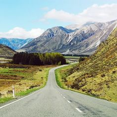 Sometimes a scenic road is a lonely road but it'll be worth it eventually :) #arthurspass #newzealand #journey