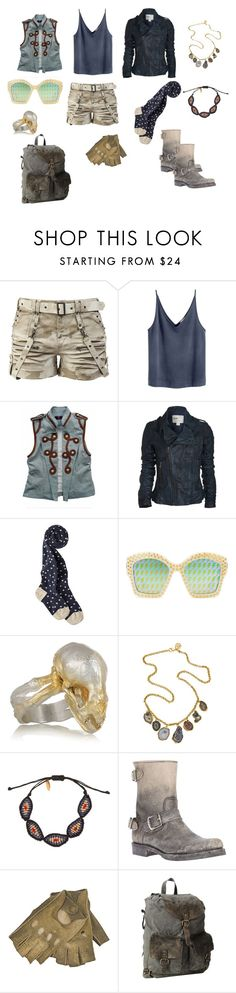 """""""Blue Explorer"""" by spectrearcane ❤ liked on Polyvore featuring Ever, Gucci, Philippa Holland, Dara Ettinger, Zayiana, Frye, Imoni and Bed