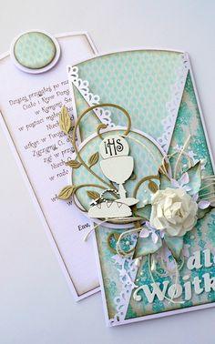 kartkulec: La comunión con etiquetas extraíbles Communion, Tatting, Notebook, Scrap, Handmade Cards, Creative Cards, Creativity, Envelopes, Tags