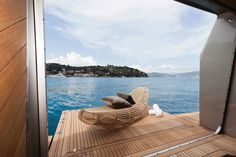 Outdoor space on a yacht