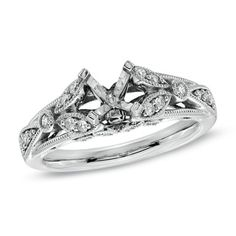 Diamond Filigree Semi-Mount