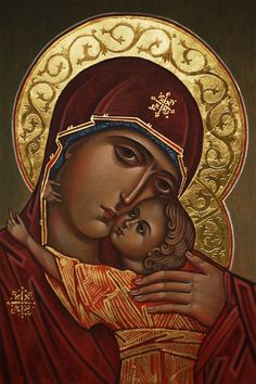 Religious Pictures, Religious Icons, Religious Art, Byzantine Art, Byzantine Icons, Christian Images, Christian Art, Christian Symbols, Blessed Mother Mary