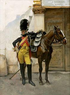 Soldado de la guardia imperial. François Flameng