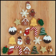 Mini Christmas Cookie Advent Calendar
