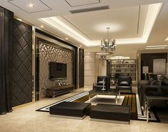 living rooms pictures shades of black