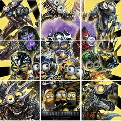 Transformers Age of Minions Puzzle Poster by IG @soegimitro