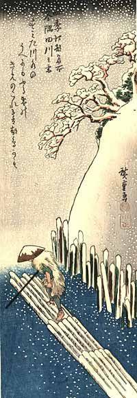 Ando Hiroshige- Sumida River Snow
