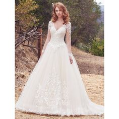 Maggie Sottero Wedding Dresses ❤ liked on Polyvore featuring dresses and wedding dresses