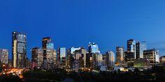 Blue hour in Calgary  AB Alberta Canada