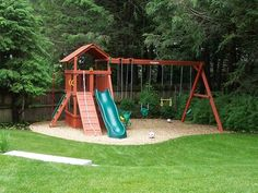Idea for Landscaping Kids Play Area