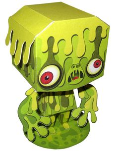 Icky Iggy toxic waste monster paper toy you can download from Etsy. https://www.etsy.com/people/IngenuityArt