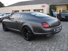 For Sale: Dark Grey Satin Matte Supersports at Bentley Beverly Hills | THE CARS AND TOYS