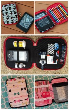Sewing pattern for 3 different sizes zipper cases. Perfect for organisers, kids
