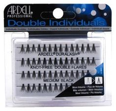 b646aa84300 Ardell Double Individuals Knot Free Double Flares Black Med (6 Pack) -- Find