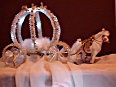 Princess Pumpkin Coach/Carriage decorated in crystals
