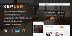 Kepler - Responsive Email + StampReady Builder • Download theme ➝…