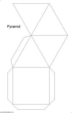 Origami Paper Pattern Kids Ideas For 2019 Pyramid Model, Egypt Crafts, Geometry Activities, Papier Diy, Bible School Crafts, Paper Crafts Origami, Kids Origami, Shape Crafts, Templates Printable Free