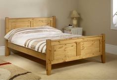 High quality, extra strong pine bed frame.Finest Scandinavian pine super kingsize bed frame.Sturdy styling, hand crafted in Lancashire. Antique finish.FREE Express Delivery.