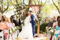 Christy and Mike chose the Swan & Dolphin for their wedding ceremony because it was cost-effective, flexible and offered the ability to choose any vendor for floral, décor, etc.
