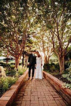 Beautiful garden wedding at Clark Gardens. Located a short drive from Fort Worth, Texas. Photo Credit: The Burrow Clark Gardens, The Burrow, Fort Worth, Beautiful Gardens, Garden Wedding, Railroad Tracks, Photo Credit, Sidewalk, Channel