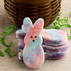 Forget store-bought and try your hand at fluffy, colorful Easter marshmallows! Flavored with McCormick® Pure Vanilla Extract and decorated with homemade colored sugar using NEON! Food Colors, they're a fun and playful addition to your dessert table.