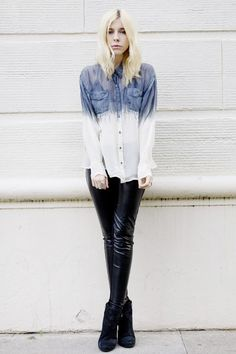 Madeline Pendleton in our Montana Dip Dye Top. Available at www.shopcrashandburn.com.