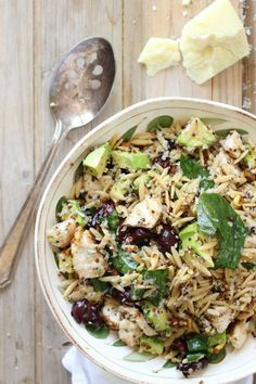 Healthy Grilled Chicken Salad with Quinoa and Orzo Pasta | Foodness Gracious