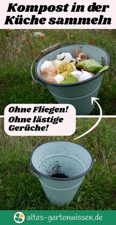Collect compost in the kitchen - without any disgust factor!Ecological, clean, without flies, maggots, odors and without chemicals. A simple trick helps to collect the compost hygienically in the kitchen. Garden Care, Garden Shed Diy, Backyard Sheds, Diy Garden Projects, Garden Types, Plantation, Garden Planning, Ecology, Amazing Gardens