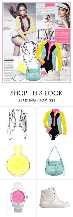 """Barbara Palvin Glamour Hungary July August 2012"" by oriya ❤ liked on Polyvore featuring Katie Gallagher, H&M, Puma, Hayden-Harnett, Juicy Couture, Maison Margiela and Balenciaga"