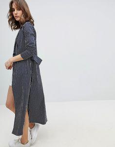 Unique 21 Pinstripe Long Jacket