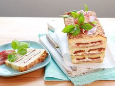 Croque-cake à l'italienne Cookies Et Biscuits, Junk Food, Tiramisu, Buffet, French Toast, Bread, Cooking, Breakfast, Ethnic Recipes