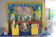 30th Party, Happy Birthday Parties, Birthday Bash, Birthday Ideas, The Simpsons Theme, Simpsons Party, Donut Party, Decoration Table, Baby Shower Decorations